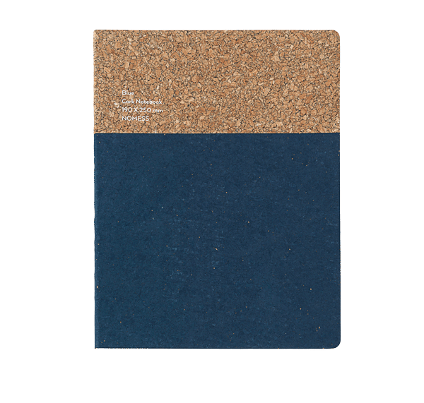 Nomess Cork Notebook Large Blue