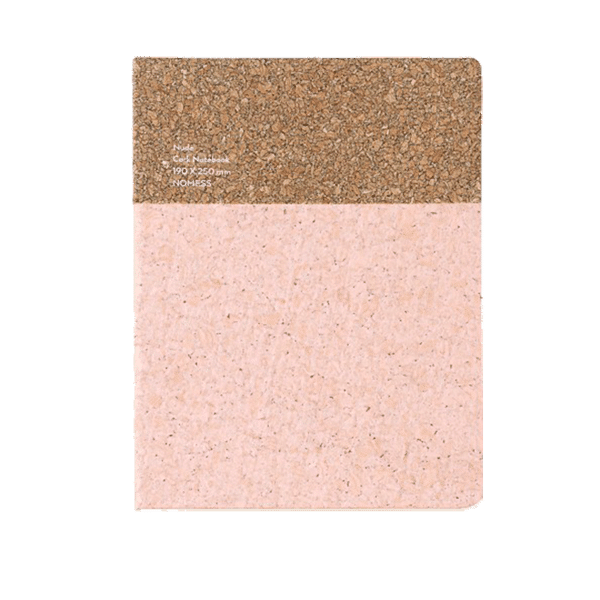 Nomess Cork Notebook Large Nude