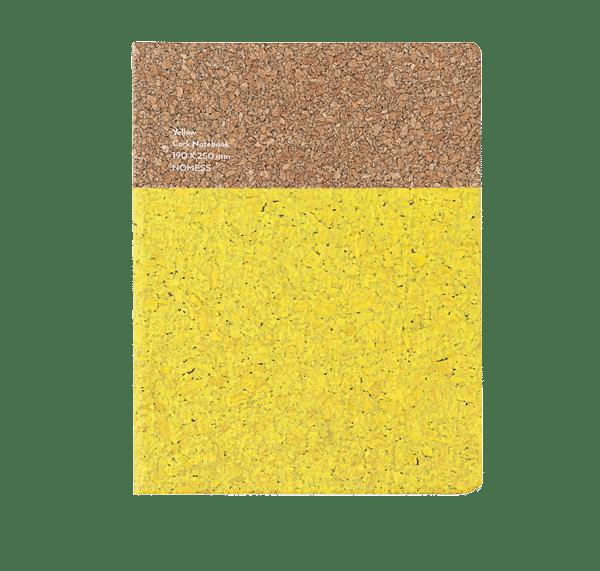 Nomess Cork Notebook Large Yellow