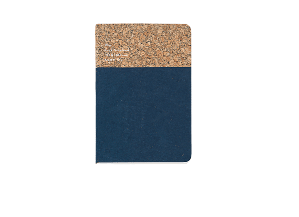 Nomess Cork Notebook Small Blue