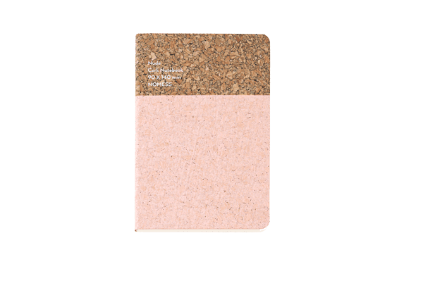 Nomess Cork Notebook Small Nude