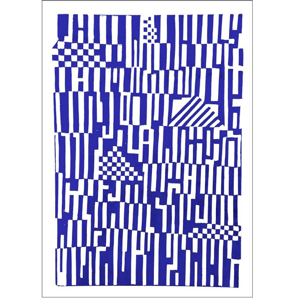 Monika Petersen: Pattern Blue 50 x 70 cm