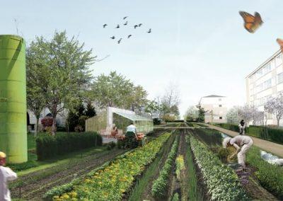 grøn by fremtids billede