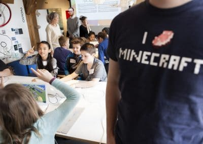 Elever til mindcraft workshop