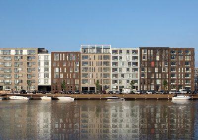 Bygninger og både i sluseholmen